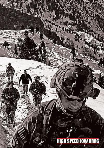 high speed low drag soldier walking