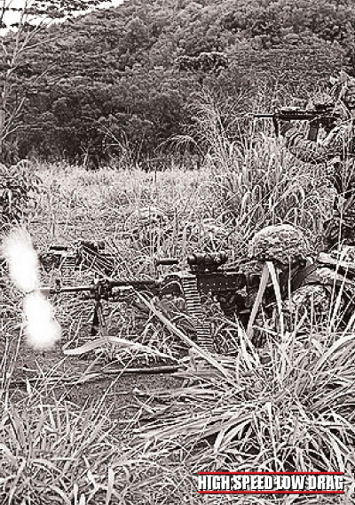 high speed low drag soldier shooting