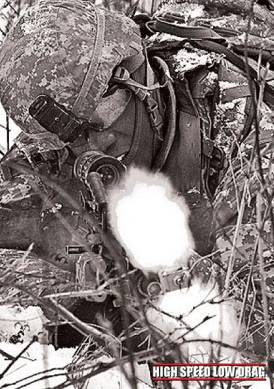 high speed low drag soldier firing