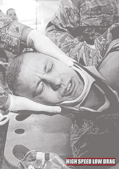 high speed low drag soldier injured